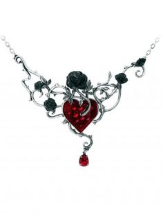"""""""Bed Of Blood Roses"""" Pendant by Alchemy of England"""