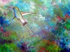 Flight of the Hummingbird by Australian artist Sally Ford Hummingbird Colors, Contemporary Australian Artists, Dream Art, Chalk Art, Bird Art, Sally, Ford, Artwork, Prints