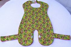 Baby and Toddler Full Body Bib with Monkeys by SpiritPenny on Etsy, $18.00