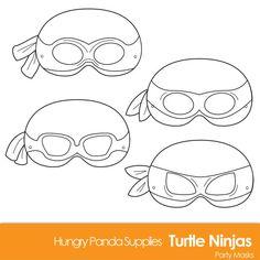 template for ninja turtle mask Ninja Turtles, Ninja Turtle Mask, Ninja Mask, Carnival Party Favors, Circus Party, Alfabeto Disney, Villain Mask, Dinosaur Mask, Dinosaur Printables