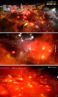Ukraine? Syria?  Just another day for Benfica, winning Portuguese League!