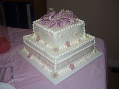 tried it & ♥ IT! flowers and bows cake