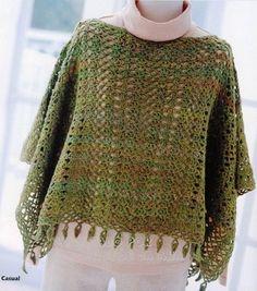 poncho tejido a crochet - Buscar con Google