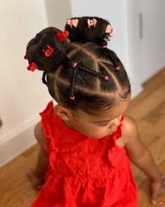 Black Baby Girl Hairstyles, Toddler Braided Hairstyles, Natural Hairstyles For Kids, Natural Hair Styles, Hairstyle Short, Girl Hair Dos, Little Girl Braids, Halloween Hairstyles, School Hairstyles
