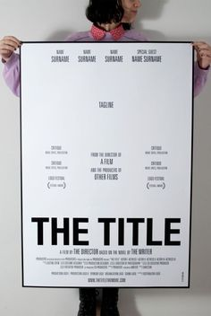 THE TITLE, a parodic movie poster & trailer