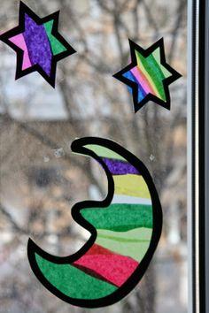 Basteln mit Kind::  Die Sterne vom Himmel Symbols, Letters, Kindergarten, Beautiful Things, Heavens, Handarbeit, Weihnachten, Kinder Garden, Icons