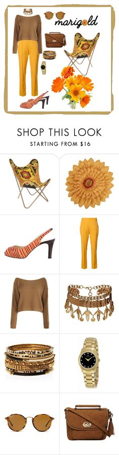 """Marigold"" by mary-kay-de-jesus ❤ liked on Polyvore featuring Christian Louboutin, Rosie Assoulin, Boohoo, Elizabeth Cole, Amrita Singh, Movado, Ray-Ban and Dorothy Perkins"