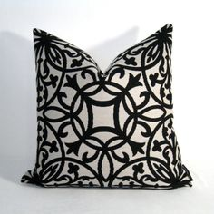 Great Black White Pillow Cover Outdoor Cushion Decorative By Mazizmuse, $75.00 On  Etsy!