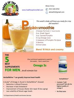 Another one of my favorite Herbalife shake recipes.