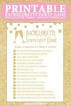 Bachelorette Scavenger Hunt - Not Dirty - Fun, Clean Game - Bachelorette Party - Printable Game