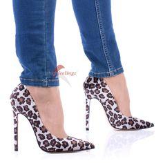 Pumps 11cm High Heels mit 2,5cm Plateau Velours Leder
