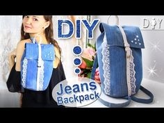 DIY Jeans Backpack Tutorial | Fashion MUST HAVE | Denim BackPack - YouTube