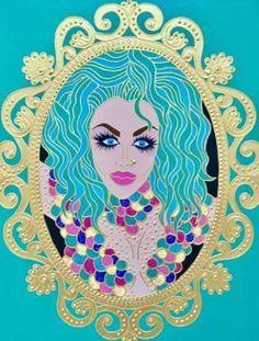 IF I WERE A QUEEN # VIII I Am A Queen, Human Condition, Naive, Saatchi Art, Original Paintings, Disney Characters, Fictional Characters, Aurora Sleeping Beauty, Princess Zelda