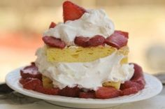 Low Carb Strawberry Shortcake made with Oopsie Bread