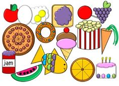 A collection of 15 food images! Includes an apple, cake, carrot, doughnut, eggs, fish, grapes, ice cream, jam, lollipop, orange, pizza, popcorn, toast, and a watermelon! Please read my Terms of Use (included with download). Thank you! Enjoy! :)CHECK OUT MY OTHER CLIP ART!Letter A Clip ArtFall Clip ArtTurkey Clip Art {FREEBIE}Penguin Clip ArtChristmas Clip ArtUnifix Cube Clip ArtCat Clip ArtOwl Clip Art {Over 100 Images}!School Clip Art FREE MEGA PACK {147 Images}!lFREE Glue Bottle Clip…