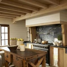 Designer Melanie Pounds Alabama Soapstone Kitchen backplash vintage table