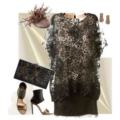 """Lace, beads and a fascinator"" by dailyshoe on Polyvore"