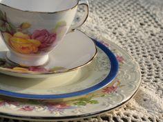 Wedding - place setting, vintage china, vintage wedding rentals, boho wedding