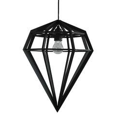 Lampa i mdf målad eller trä Liten: Diameter 20 cm Höjd 25 cm Mellan: Diamteter 30 cm Höjd 40 cm Material: Lackerad MDF-svart, Slipad MDF-brun/svart Ljuskälla: E14 Övrigt: Ljuskälla ingår ej