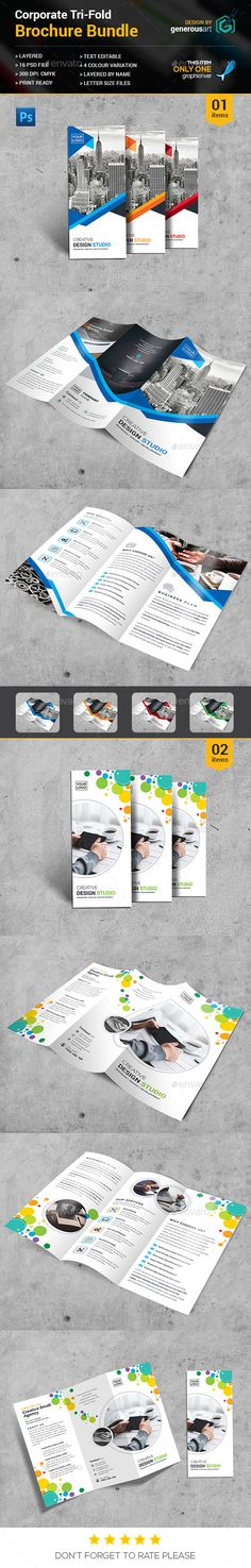 2 Tri-fold Brochure Template PSD. Download here: http://graphicriver.net/item/trifold-bundle_2-in-1/16399669?ref=ksioks