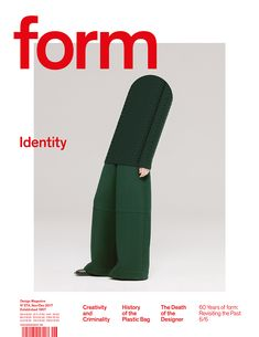 form N° 274. 2017. Identity. Art Direction: Carolin Blöink, Susanne Heinlein, Sarah Schmitt; photo: Christian Heikoop © Verlag form GmbH & Co. KG