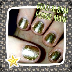 Colors used:   Wet n wild: (Fergie collection) gold album
