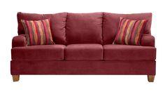 Slumberland Furniture - Bradshaw Collection - Burgundy Sofa - Slumberland Furniture Stores and Mattress Stores