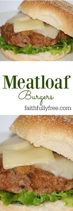 Move over borning meatloaf, there's a new recipe in town. Meatloaf Burgers are our family's new favorite burger recipe! Your family will thank you! Tofu Recipes, Lunch Recipes, Easy Dinner Recipes, Mexican Food Recipes, Healthy Recipes, Game Recipes, Vietnamese Recipes, Delicious Recipes, Chicken Recipes