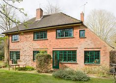 Residential property fitted with Clement Windows - perfectly match the style and character of this charming property. Steel Windows, Steel Doors, Windows And Doors, Residential Windows, London Blog, Country Life, Interior Inspiration, Property For Sale, Shed