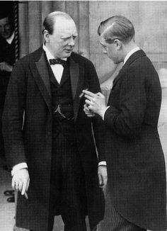 "Winston Churchill with "" DAVID "" EDWARD THE VIII"