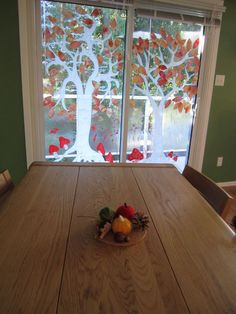 autumn trees - possibility: write words of thankfulness on leaves? Autumn Nature, Autumn Trees, Autumn Home, Klimt Art, Fall Preschool, Waldorf Education, Autumn Crafts, Fall Projects, Window Art