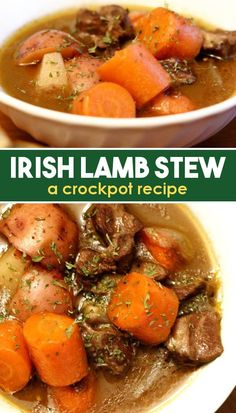 If you're looking for a traditional recipe for Irish stew with lamb, this is the recipe for you! Made in a crockpot, this Irish stew is easy to pull together for a delicious dinner. Serve with a side of crusty bread. Try it today! Crockpot Lamb, Crockpot Recipes, Slow Cooker Recipes, Cooking Recipes, Healthy Recipes, Irish Lamb Stew, Traditional Irish Stew, Mashed Sweet Potatoes, Scottish Recipes