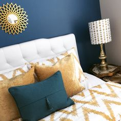 A beautiful color stimulates this space... Guest room gets a spark of life!