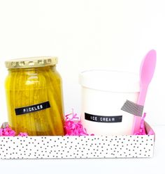 pickles & ice cream pregnancy gift are my fave