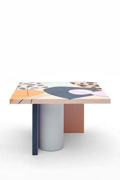 Design forward and beautiful lowtable for your home interior. Nortstudio and Studio Proba have joined forces to create a collection of one-of-a-kind tables that reflect their mutual passions for vibrant color, unique composition, and high-quality craftsmanship. Furniture that adds value to every modern and contemporary home and interior. #lowtable #sidetable #coffeetable #homedecor #interiordesign Colorful Furniture, Furniture For You, Furniture Design, Contemporary Interior Design, Contemporary Furniture, Low Tables, Lighting Design, Composition, Vibrant