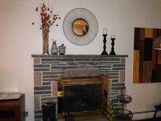 Fireplace- like mirror Paint insert black?