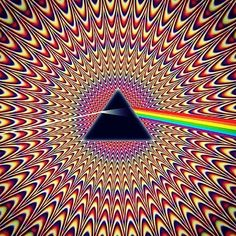 this is a image representing the iconic band Pink Floyd. the image sucks your eyes in like Pink Floyd music does to a listeners ears. Psychedelic Art, Psychedelic Experience, Trippy Hippie, Hippie Art, Arte Pink Floyd, Psy Art, Optical Illusions, Trance, Akita