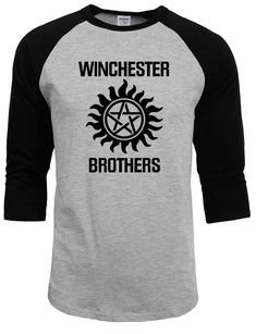 b38f09136ce Supernatural tops tee shirts 2017 summer autumn raglan sleeve funny  crossfit winchester brothers t shirts men streetwear homme