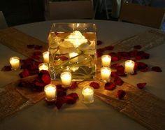 Até o dia do casamento: Centro de mesa com velas