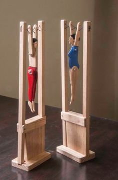 toy shop This Wooden Acrobat Toy is just one of the custom, handmade pieces youll find in our toys shops. Woodworking For Kids, Woodworking Toys, Woodworking Projects, Japanese Woodworking, Woodworking Furniture, Kinetic Toys, Making Wooden Toys, Crochet Teddy Bear Pattern, Popular Toys