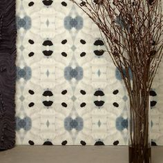 Next stop: Pinterest Powder Room Wallpaper, Kitchen Wallpaper, Fabric Wallpaper, Wall Wallpaper, Condo Living Room, Living Room Update, Dining Room, Inspirational Wallpapers, Wall Treatments