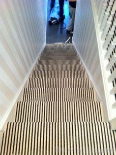Pinstripe carpet runner