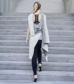 Madame Kukla as a wrap vest Duster Coat, Normcore, Vest, Women's Fashion, Jackets, Style, Dope Outfits, Dressing Up, Clothes