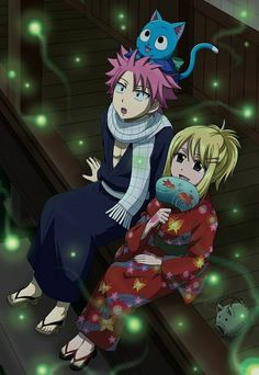 Natsu, Lucy and Happy