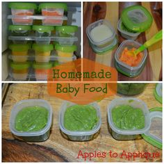 Homemade Baby Food | Apples to Applique