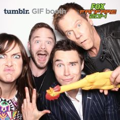 The cast of The Following at the 2014 San Diego Comic-Con: Jessica Stroup, Shawn Ashmore, Sam Underwood, and Kevin Bacon break character and get silly at The Bosco booth!