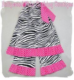 Custom Boutique Clothing Zebra Pink Polka by ZamakerrClothingCo, $34.99