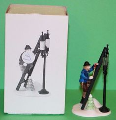 Dept. 56 Heritage Dickens Village accessory Lamplighter with Lamp #55778 #babescollectibles