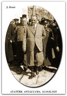 ATATÜRK ANTALYA'DA. 16-19.02.1935