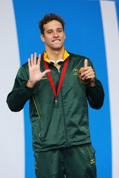 Bronze medallist Chad le Clos of South Africa